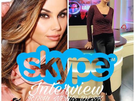 Lindita interviste permes Skype ne lajmet qendrore ne RTSH1 HD nga SHBA.