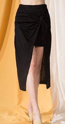 Black Skirt with Maxi Overlay