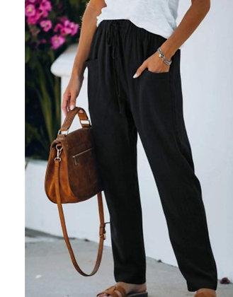 Black Drawstring Comfy Pants