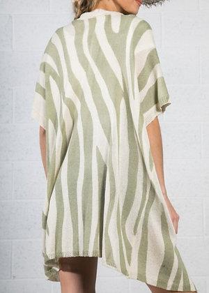 Striped Olive Cardigan