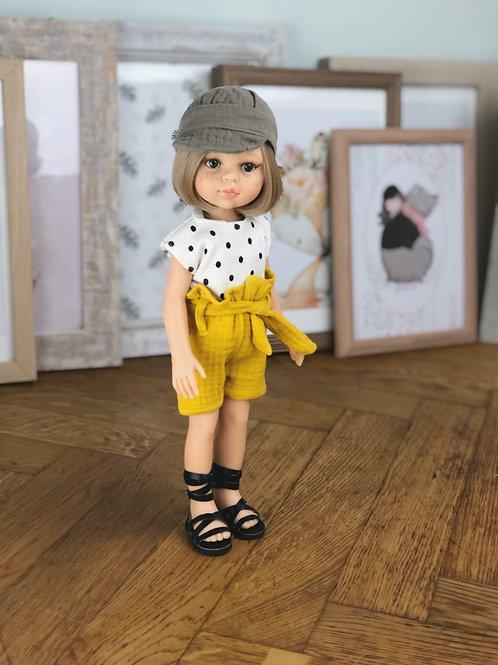 Puppe 32 cm mit Bekleidung LINDA