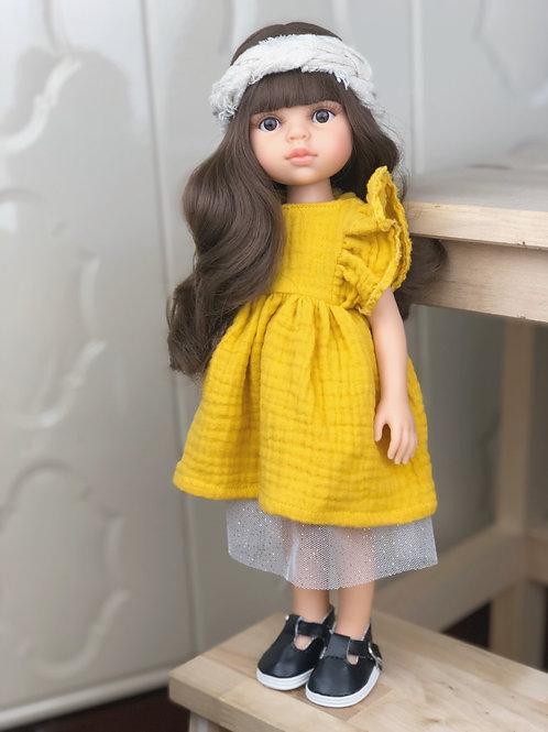 Puppe 32 cm mit Bekleidung KIRA