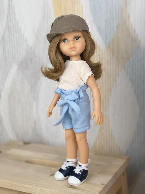 Puppe 32 cm mit Bekleidung AIDANA