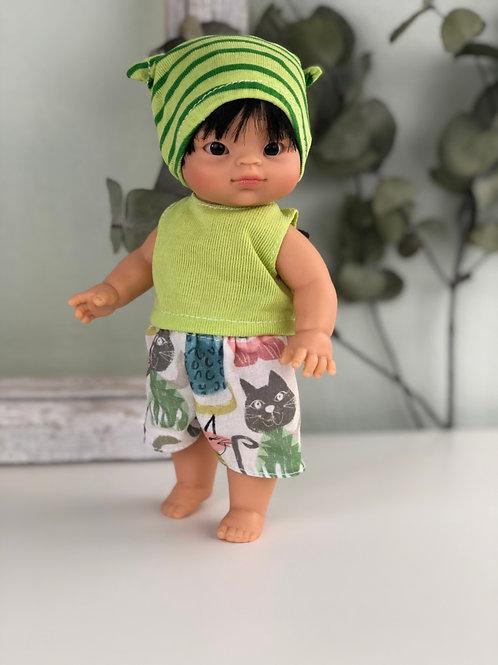 Puppe 21 cm mit Bekleidung