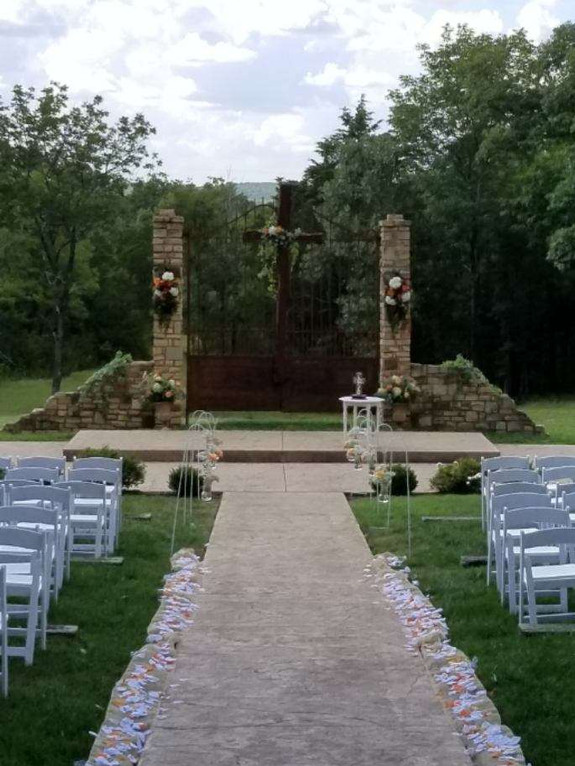 Ceremony Gates with Cross