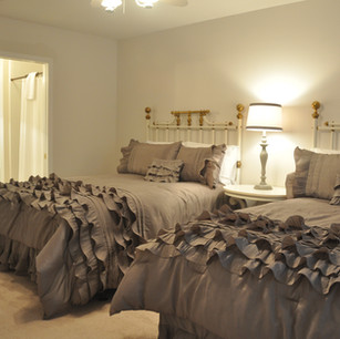 Upstairs bedroom - two full size beds