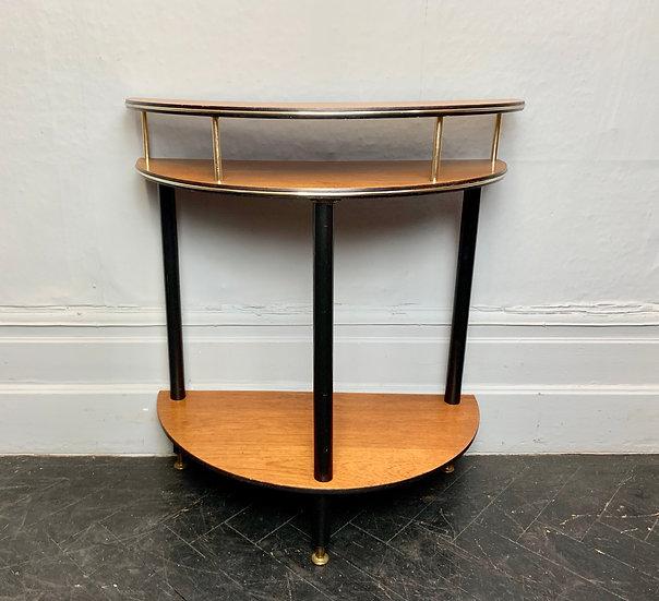 Vintage Crescent Side Table Teak #D90