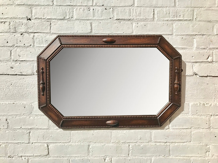 Vintage Wall Mirror Large Octagonal #844