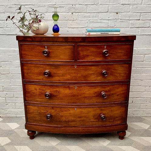 Large Victorian Chest of Bedroom Drawers #977