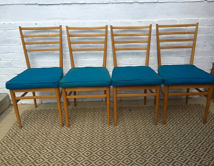 1960s SET of 4 DINING CHAIRS