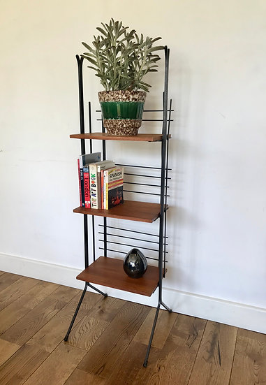 Vintage Book Shelf Display Stand French #780