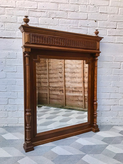 Victorian Mantelpiece Mirror French Henry II #599