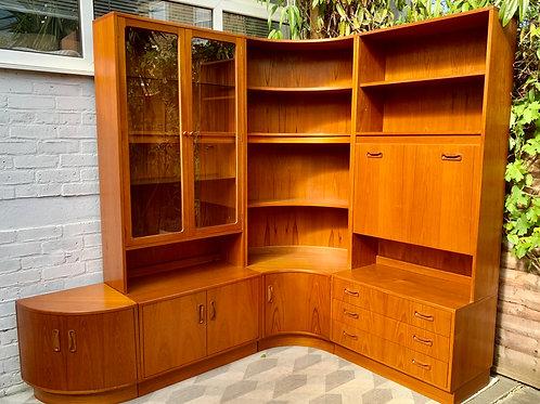 Vintage G Plan Wall Units Drinks Cabinet Drawers Corner #D401
