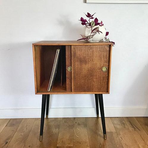 Vintage Retro Record Cabinet Wooden #694