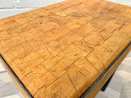 Vintage Wooden Chopping Block Butchers Block #D366 (top only)