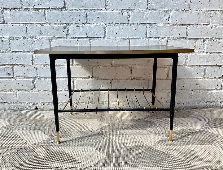 Vintage Coffee Table Side Table Brass #D157