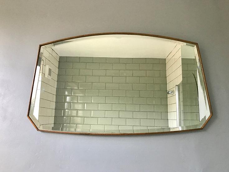 Vintage Wood Framed Art Deco Style Mirror #423