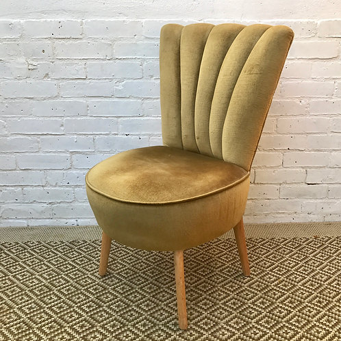 VINTAGE GREEN COCKTAIL CHAIR