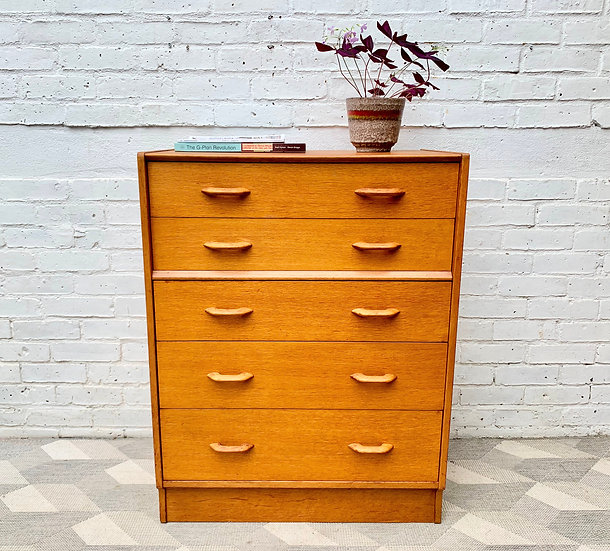 Vintage G Plan Chest of Drawers Bedroom