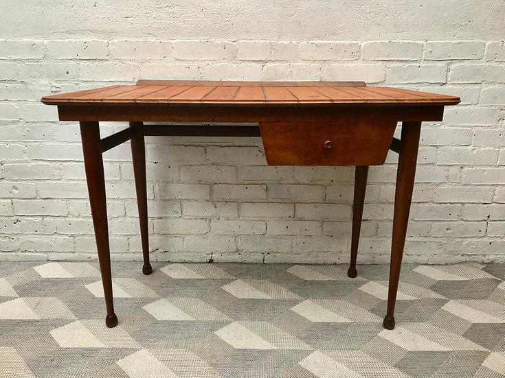 Vintage Wooden Desk with Drawer #670