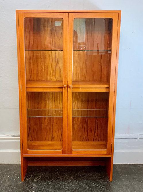 Vintage G Plan Bookcase Glass Cabinet Teak #D411