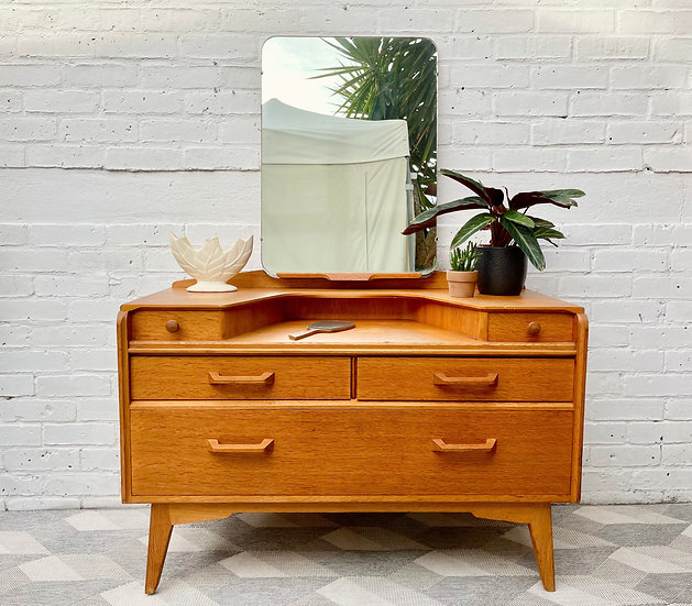 Vintage G Plan Dressing Table With Mirror front