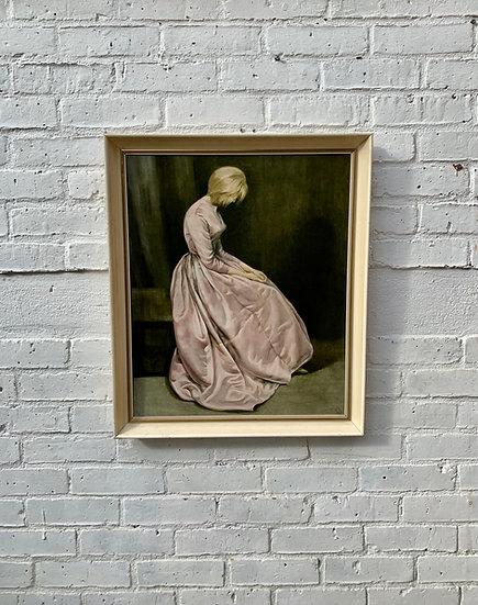 Vintage Framed Print of Woman The Secret by JPL #D39