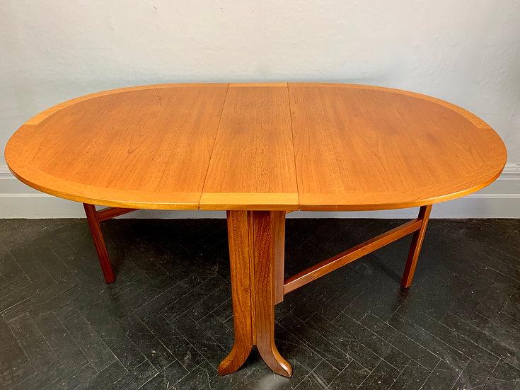 Vintage Folding Gateleg Dining Table Teak #D24