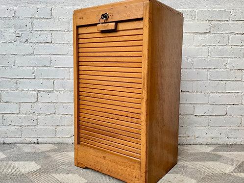 Vintage Filing Cabinet Tambour Haberdashery Small