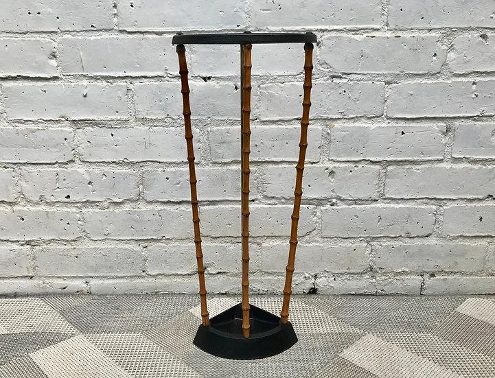 Victorian Vintage Umbrella Stand Bambu Cast Iron #659