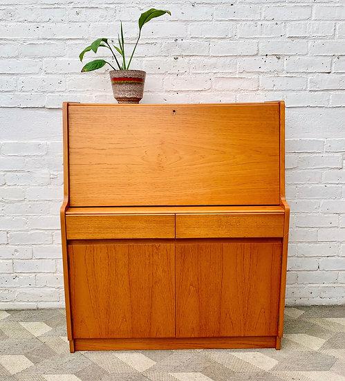 Vintage Bureau Cabinet Desk by Remploy #D330