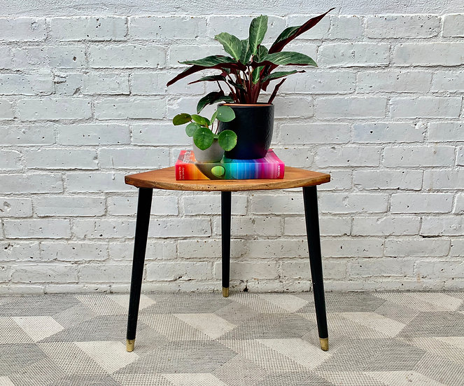 Small Vintage Corner Table Teak #D429