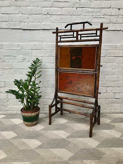 Victorian Bamboo Fire Screen Chinoiserie #863