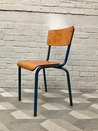 Vintage Retro Desk Chair Wood Metal #550