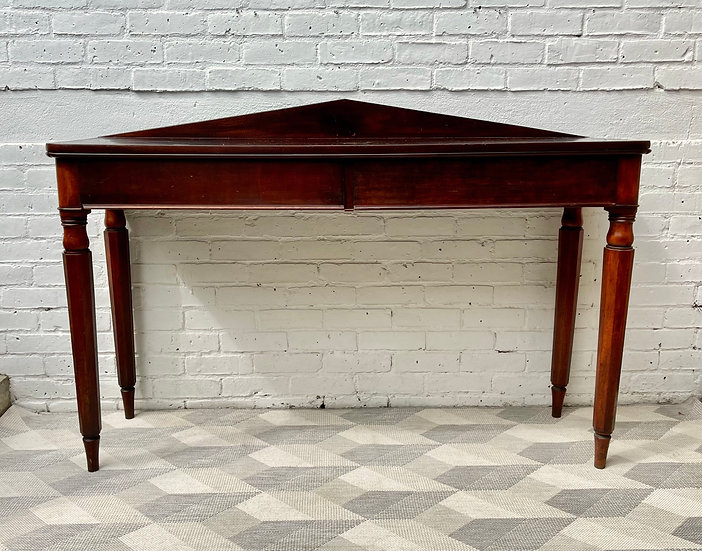 Victorian Mahogany Console Table with Drawer