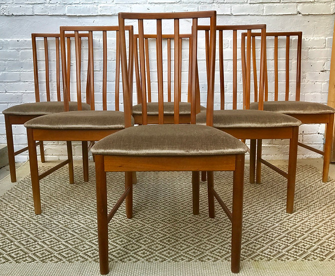 Set of 6 Vintage Retro Dining Chairs #417