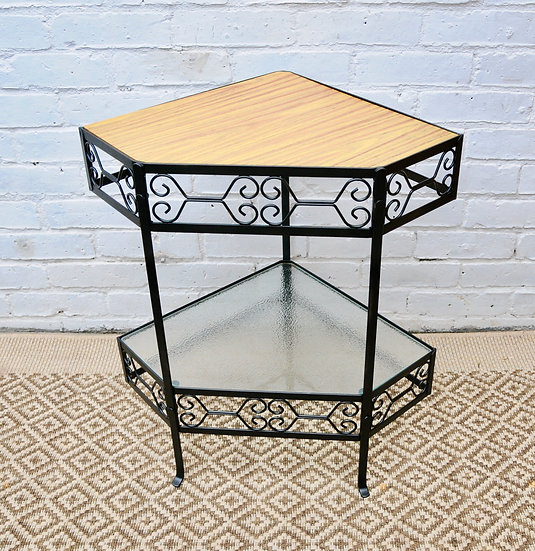VINTAGE CORNER TABLE 1960s ca