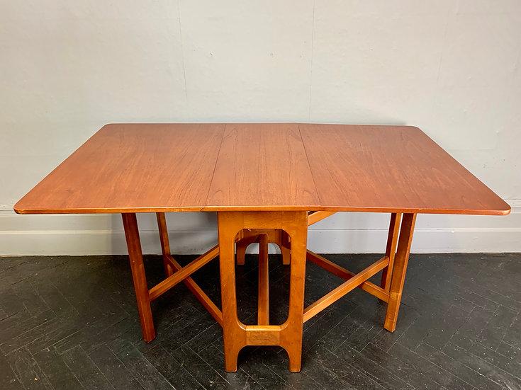 Vintage Folding Gateleg Dining Table Teak #D23