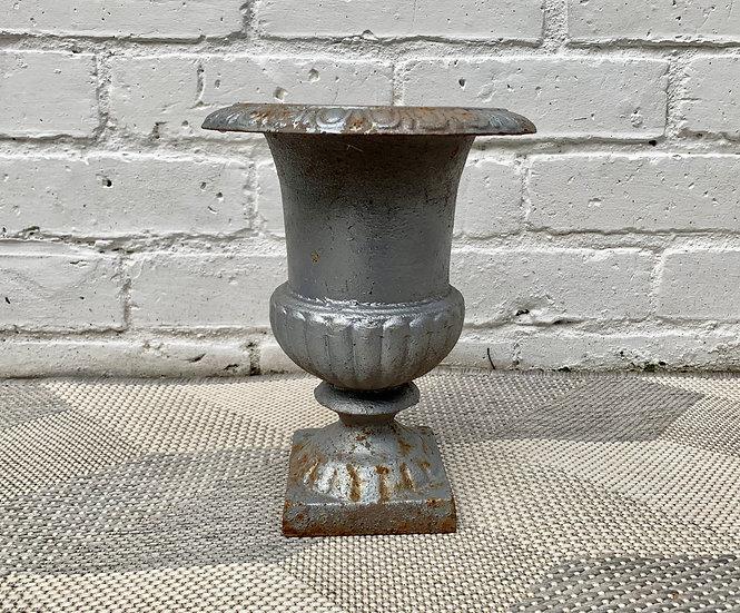Vintage Cast Iron Urn Planter #D500