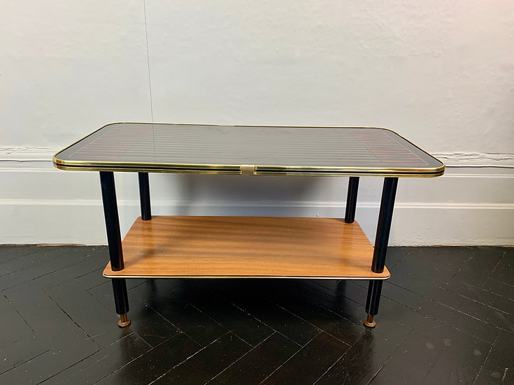 Vintage Retro Coffee Table Side Table Glass #952