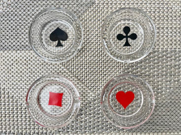Set of 4 Vintage Glass Ashtrays by Kelermes top