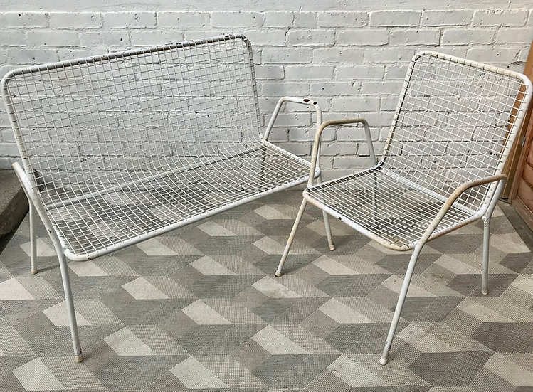 Vintage Garden Bench and Chair Rio by EMU Italian #808