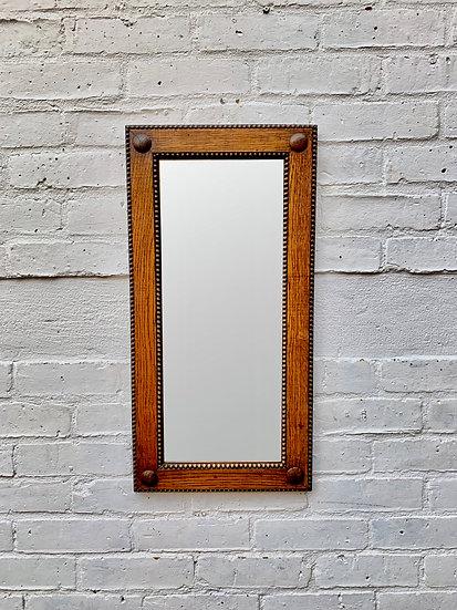 Small Rectangular Wooden Mirror Vintage #870
