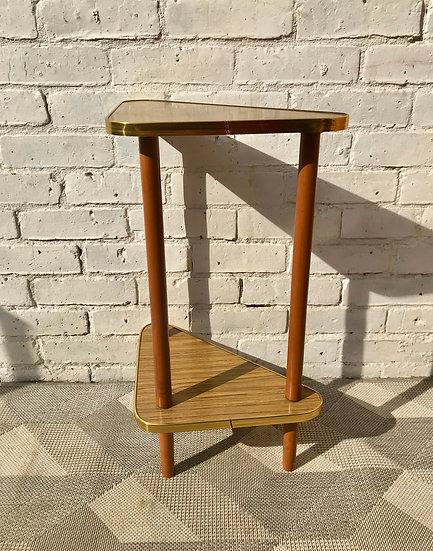 Vintage Retro Corner Side Table Formica #830