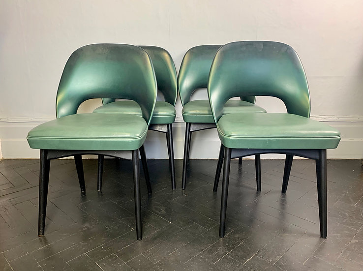Vintage Ben Chairs Dining Chairs Set of 4 Vinyl #974