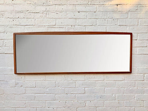 Large Rectangular Teak Mirror Landscape #874