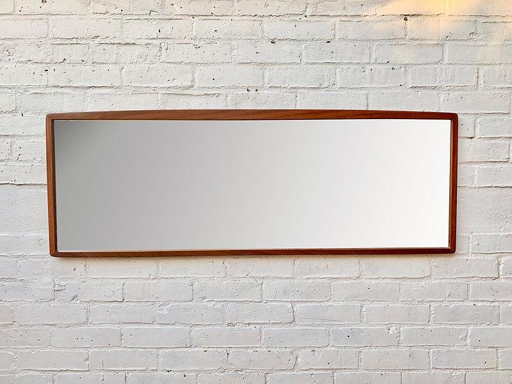 Large Rectangular Teak Mirror Landscape #874