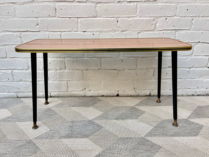 Vintage Side Coffee Table Formica #D530
