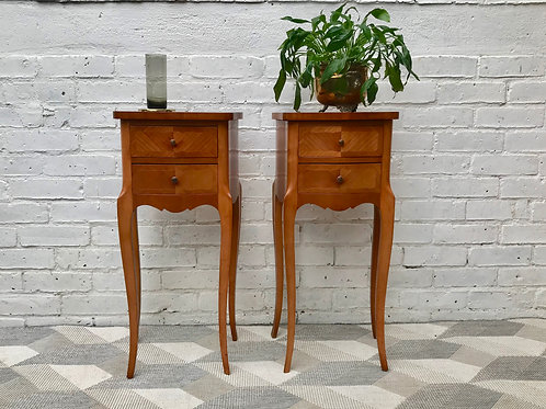 Pair of Vintage Bedside Tables French #520