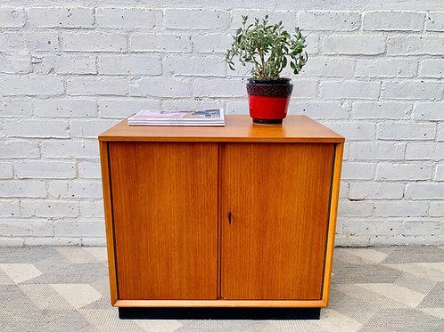 Vintage Teak Record Storage Cabinet